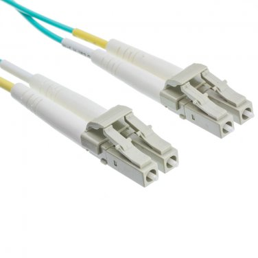 10 Gigabit Aqua Fiber Optic Cable, LC / LC, Multimode, Duplex, 50/125, 4 meter (13.1 foot)