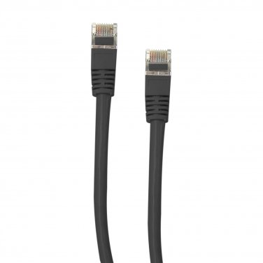 Shielded Cat5e Black Ethernet Cable, Snagless/Molded Boot, 7 foot