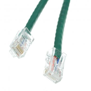 Cat5e Green Ethernet Patch Cable, Bootless, 4 foot