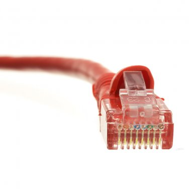 Cat6 Red Ethernet Patch Cable, Snagless/Molded Boot, 2 foot