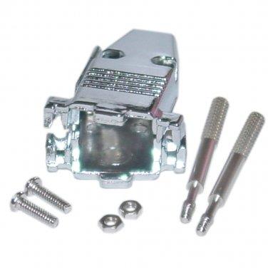 DB9 / HD15 (Serial / VGA) Metal Hood with Thumb Screws 3512-009