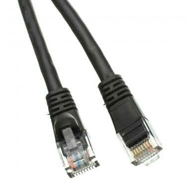 Cat6 Black Ethernet Patch Cable, Snagless/Molded Boot, 3 foot