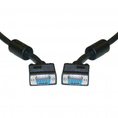 6FT SVGA Cable with Ferrites, Black, HD15 Male, Coaxial Construction 10H1-20106