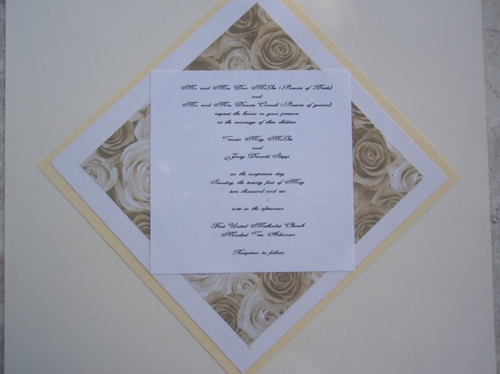 Diamond Rose Wedding Invitation