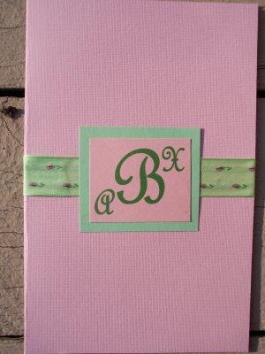 Pink/Chocolate Monogram Wedding Invitation