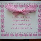 Pink Bibs Baby Shower Invitation