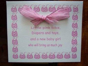 Pink Bibs Baby Shower Invitation