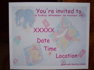 Pooh and Friends Baby Shower Invitation