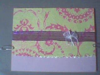 Fuchsia, Mint Green and Lavendar Note Card