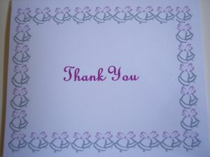 Wedding Bells Thank You Card