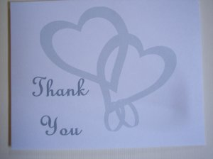 Interwoven Hearts Thank You Card
