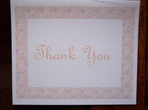 Peach Roses Thank You Card