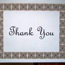 Scroll Block Border Thank You Card