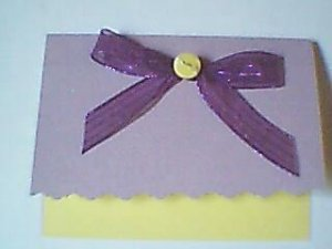 Yellow Lavender Note Card