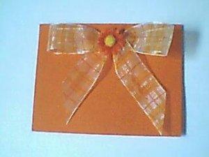 Orange Flower Note Card