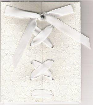 Exquisite Lace Corset Wedding Invitation Set