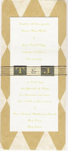 Custom Gold Monogram Wedding Invitation Set