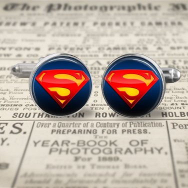 SUPERMAN SYMBOL cuff links