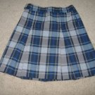 Girl's Navy and Gray Pleated Skirt     Size 5