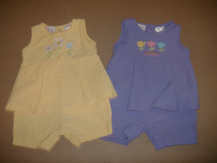 2 -1 Pc Infant Girl's Outfits   3-6 Months