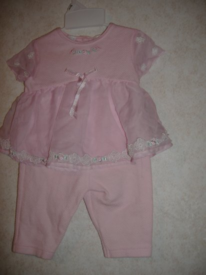 Little By Little Infant Two Piece Outfit   Size 3 /6 Mos