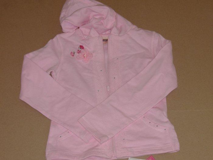 Girls Faded Glory Hoodie Knit Jacket    Size 7