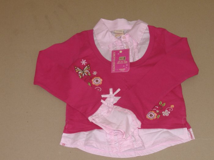 Girls 1 Piece Faded Glory Shirt   Size 7 ( New )