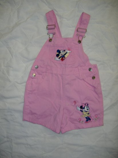 Mickey and Minnie Overalls  Size 4T