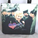 Marilyn Monroe With The Troops Handbag With Rhinestones