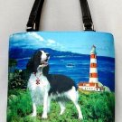 Springer Spaniel Lighthouse Guard Bucket Handbag