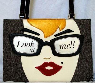 Look At Me Handbag w / Rhinestones