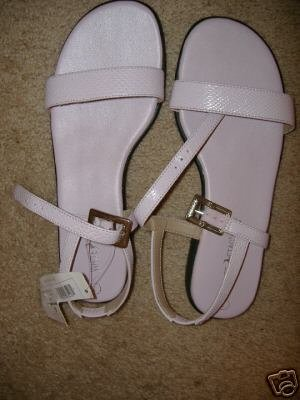 New White Stage Womens Sandals Size 7