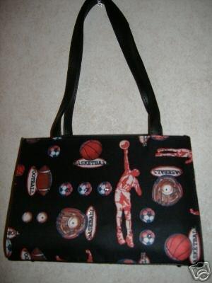 Basket And Football Handbag w /Rhinestones