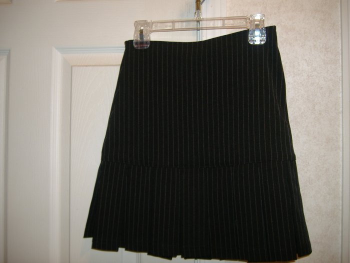 Girl's Black  Stripe Skirt By Copper Key - Size 8