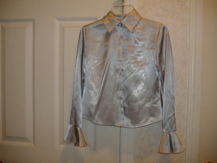 Girl's Sliver Blouse By Copper Key - Size 10
