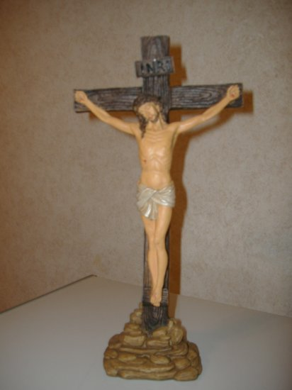 Hand -Painted Crucifix