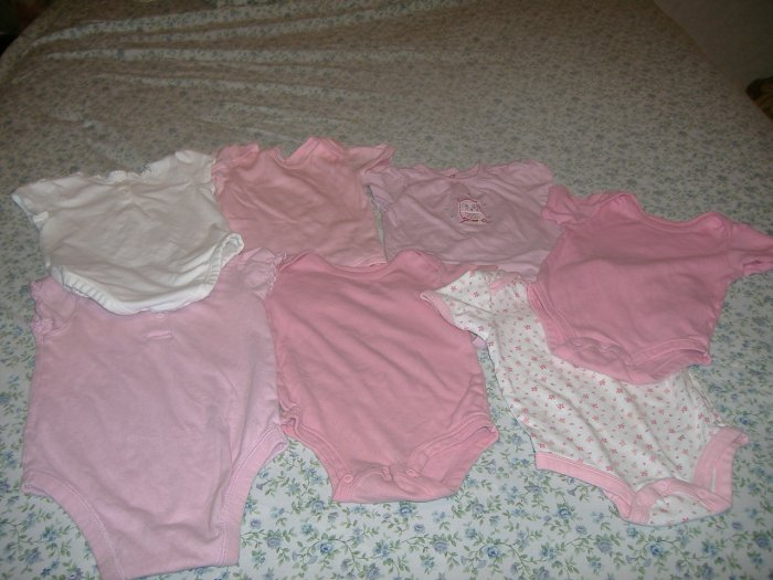 1 Lot Of 7 Infant Girls 1 Piece Outfit - 18 Months
