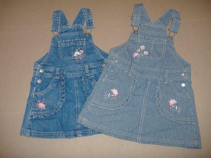 2 - Little Girls Fade Glory Overall Skirt - Size 3T