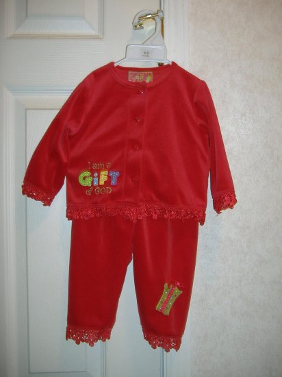 Infant Girls 2 Pc Outfit - Size 6 - 9 Months