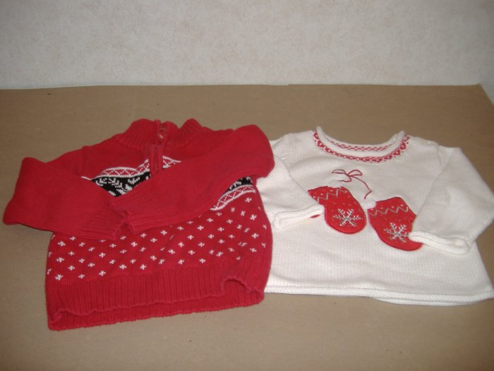 2 Little Girls Sweaters - Size 3T