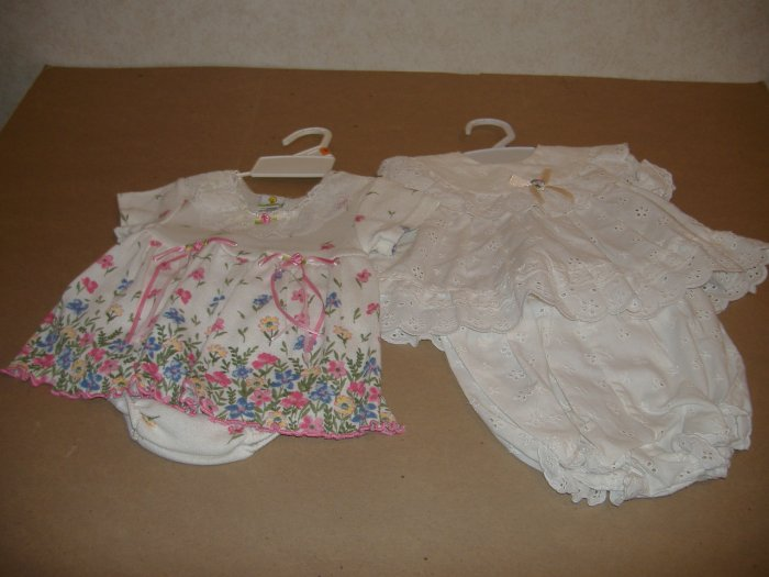 2 -2 Piece Infant Girls Outfits - Size 6-9 Months