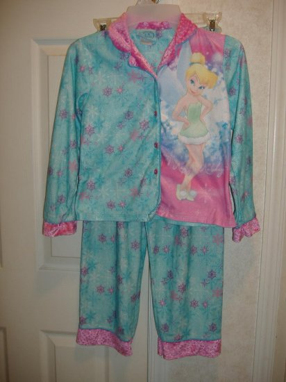 Girls 2 Piece Disney Fairies Pajama Set  Size 10/12