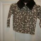 Copper Key Girl's Leopard Print Sweater w/ Faux Fur  Size 4