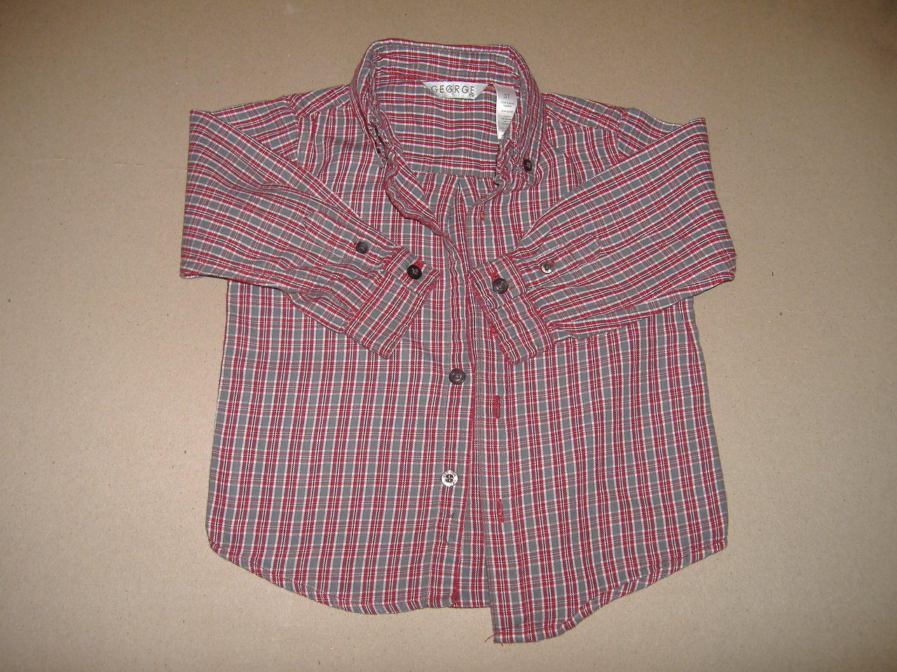 George Boy's Long Sleeve Shirt   Size 3T
