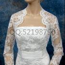 Bridal Vest 3/4 Sleeve Length Alencon Lace Beading white ivory Wedding Bolero Jacket RJ20