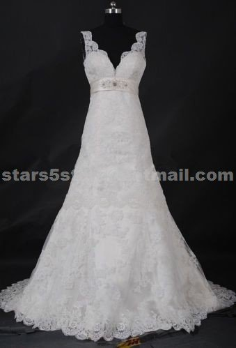 Princess Bridal Wedding Dress Sleeveless Embroidery Lace Floor-Length A-Line Wedding Ball Gown W104