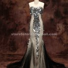Sexy Mermaid Strapless Evening Dress Sequins Beading Long Wedding Party Pageant Prom Dress EP19