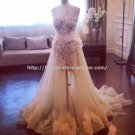 Halter Wedding Dress Zipper Lace A-Line Floor-Length Bridal Gowns D2015636