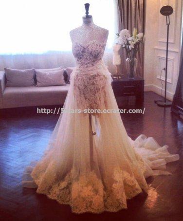 Halter Wedding Dress Zipper Lace A-Line Floor-Length Bridal Gowns D2015636