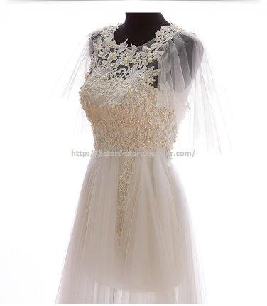 Jewel Bridal Dresses Sleeveless Beaded Wedding Gowns D2015634